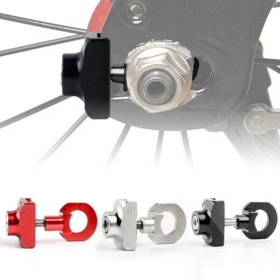 Bicycle Chain Adjuster Tensioner Aluminum Alloy Metal Bolt For Folding Bike Part