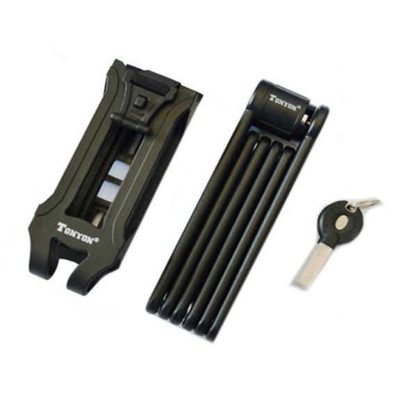 Portable Lock Steel Folding Bike Lock Bicycle Joints Anti-theft Useful