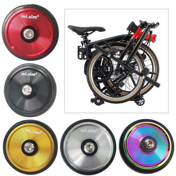 Ultralight Folding Bike Easy Wheel Transporting Travel Easywheel Refit Wheels