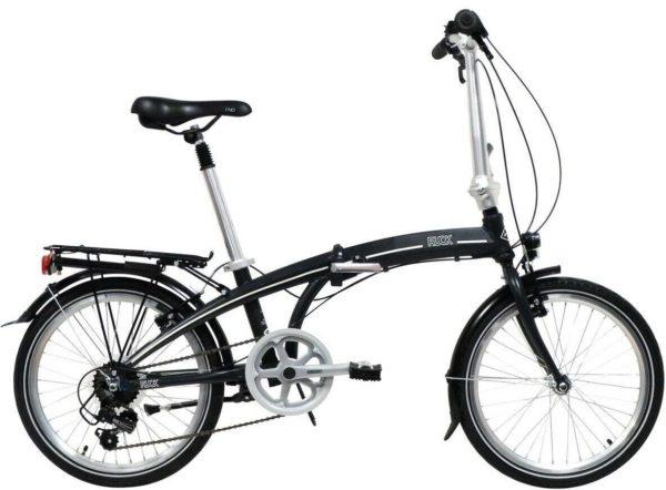 """Freespirit Ruck Unisex Folding Bicycle, 20"""" Wheel, 7 Speed - Black Bike"""