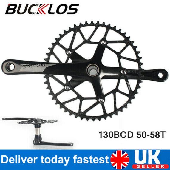 BUCKLOS Road Folding Bike 130BCD Crankset 50-58T Chainring 5-Arms Mount Sprocket