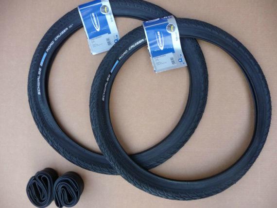 Pair 20x1.75 Schwalbe ROAD CRUISER Bicycle Tyres BMX Urban Folding Bike Cycle