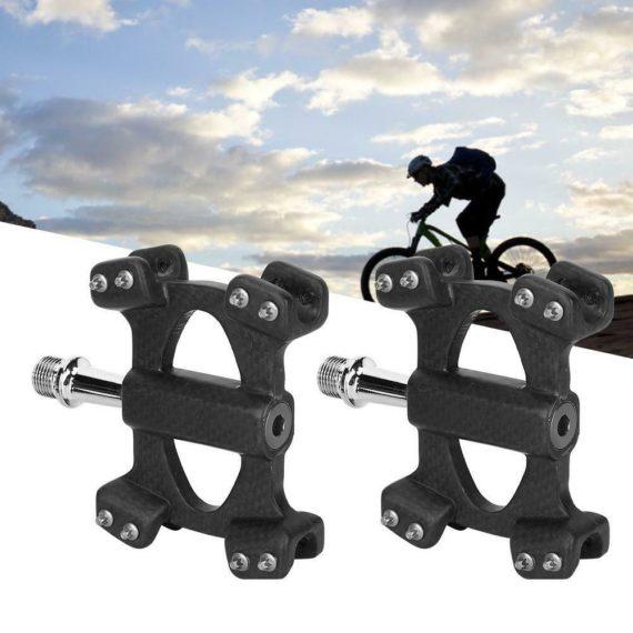 1Pair 3K Matte Carbon Fiber MTB Bearing Pedal Road Folding Bicycle Cycling Equip
