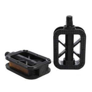 1 Pair 14MM Bicycle Ordinary Folding Bike Pedal Plastic Bicycle Accessorie Black