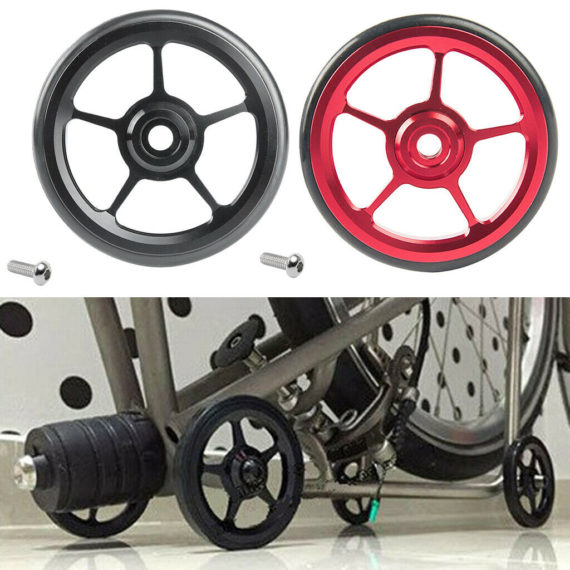 2 Pieces Alloy Bike Easy Wheels Folding Bicycle for Brompton Wheel Red+Black