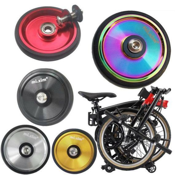 Folding Bike EZ Wheels Transporting Easywheel Rear Cargo Rack Mounted Wheels