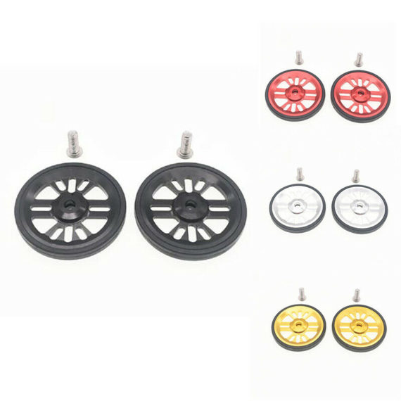 2Pcs Folding Bike Easywheel for Brompton Bicycle Bearing Wheel Aluminum wit A6S6