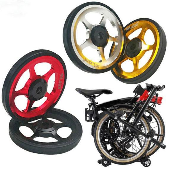 6cm Easy Wheel Folding Bike Bicycle Transport Pushing Park Wheel High Strength