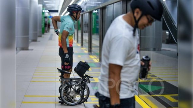 MRT Jakarta: Non-Folding Bike Allowed on Board Trains Starting March 24 - Tempo.co English