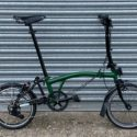 !!! SUPER RARE BROMPTON RACING GREEN BLACK EDITION M-Type 6 SPEED !!! – Folding Bikes 4U