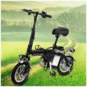 Black 14 Inch Adult Folding Electric Bike – Folding Bikes 4U