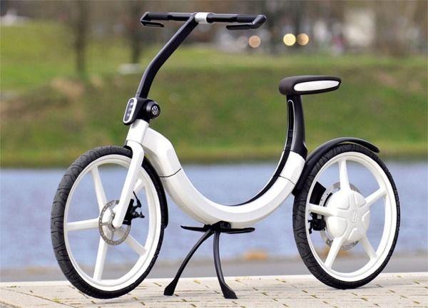 Volkswagen rolls out foldable 'Bik.e' electric bicycle concept -- Engadget  | Foldable bikes, Folding electric bike, Electric bicycle